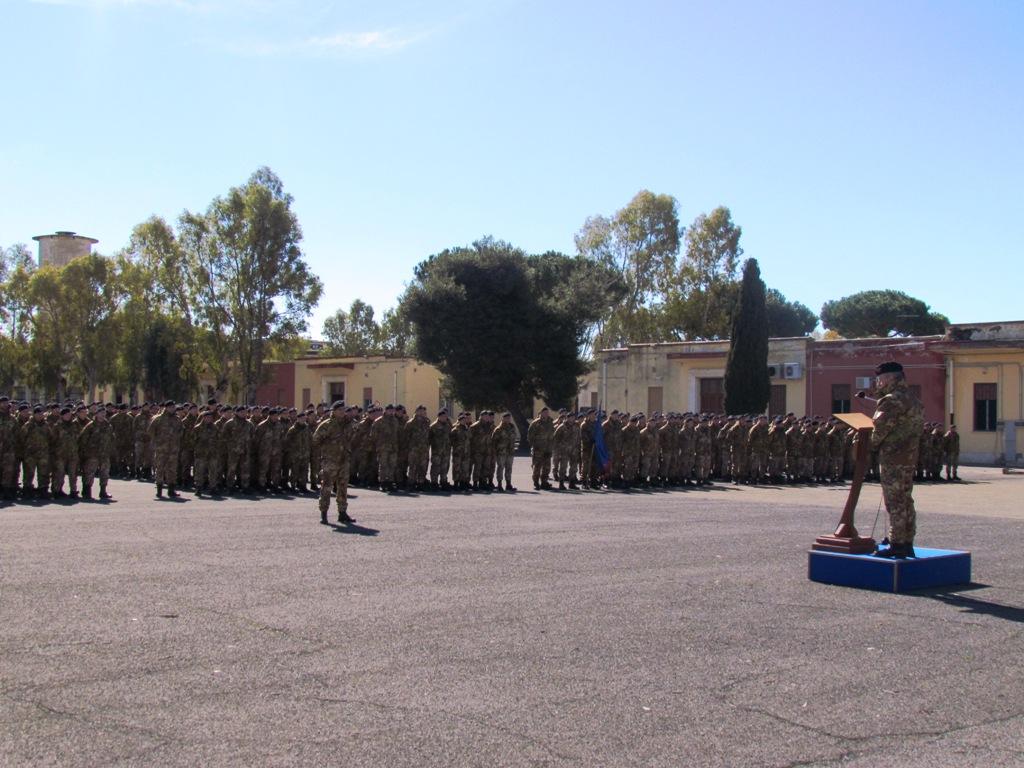 discorso del generale Miro al 11 Reggimento