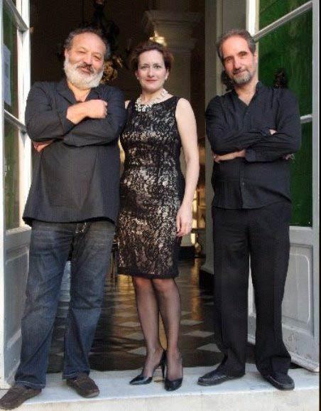 A sinistra lo scrittore Piumini con Ercole e Basevi 1