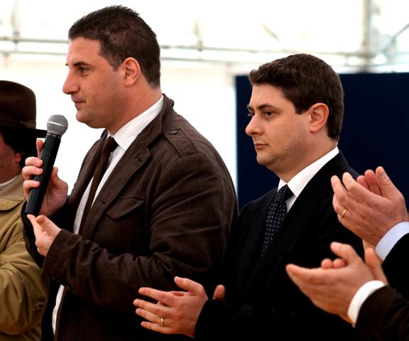 Il presidente Antonelli e lon. Mazzoli 1