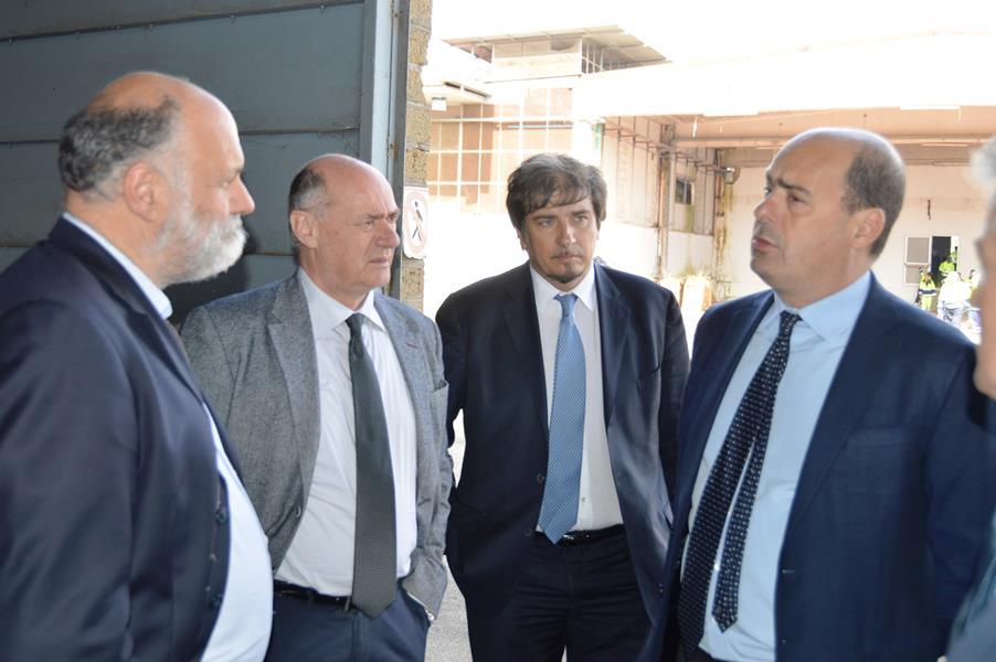 Il sindaco Mazzola con il presidente Zingaretti
