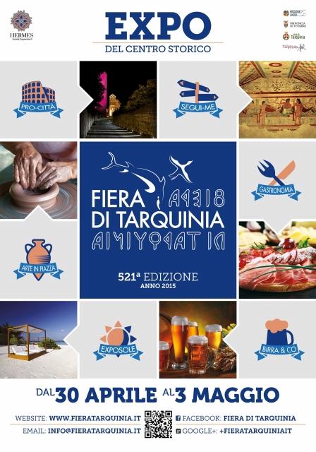 Manifesto Ufficiale Tarquinia EXPO 2015 - Centro Storico