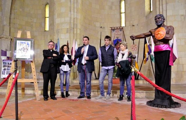Inaugurazione della mostra nella chiesa di San Pancrazio