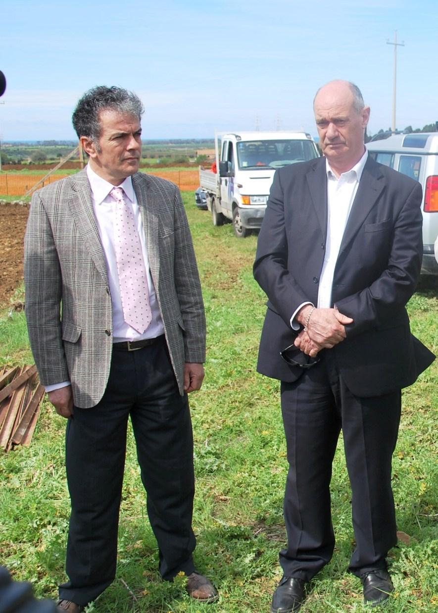 Da sinistra l'assessore Bacciardi e il sindaco Mazzola
