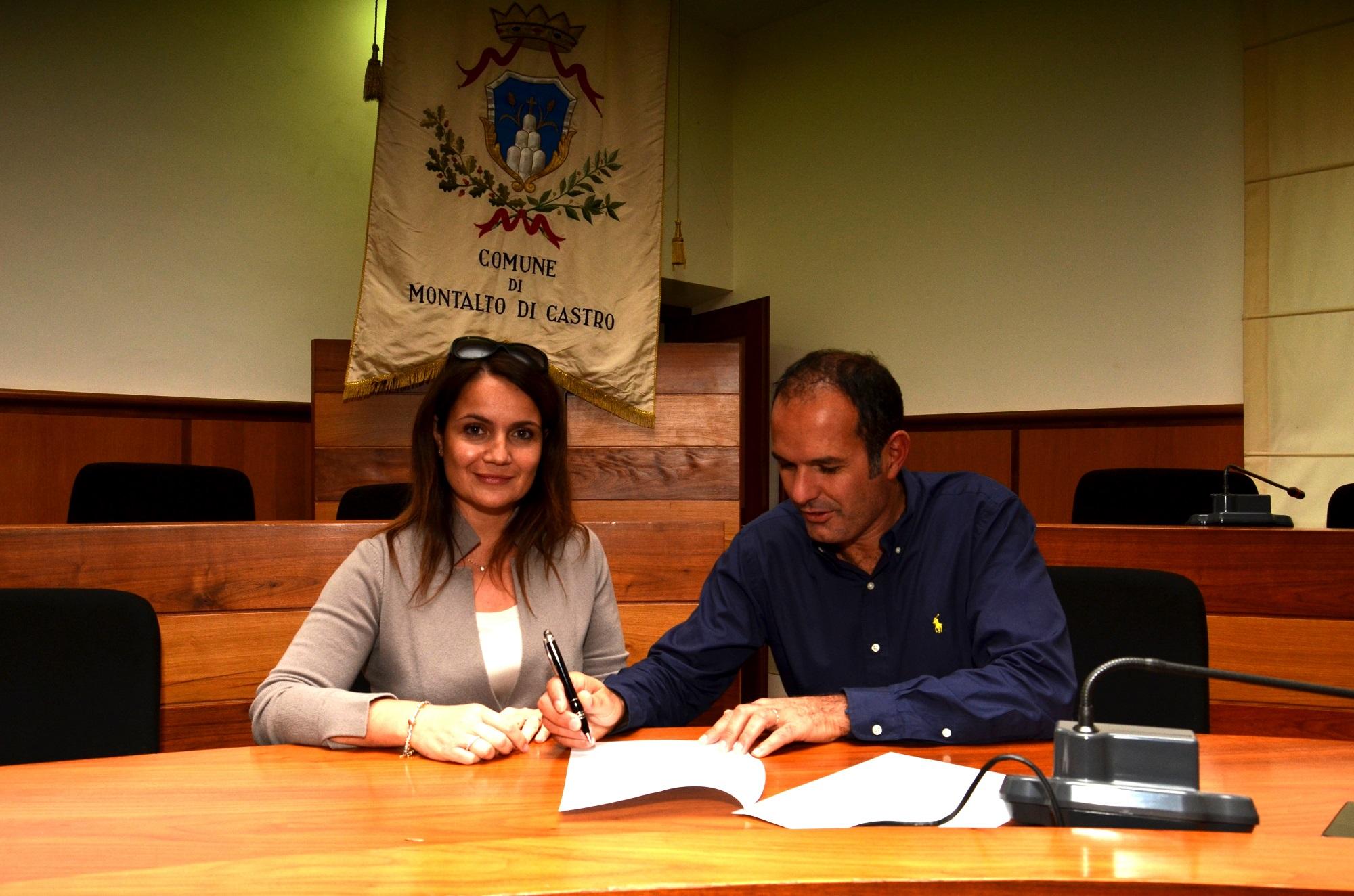 Laura Piroli con il Sindaco Sergio Caci