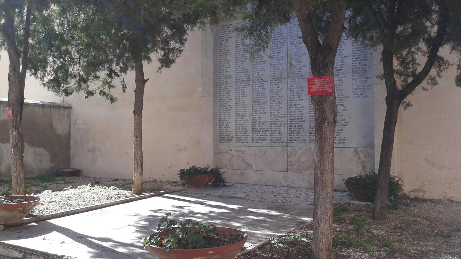 monumento vittime bombardamenti