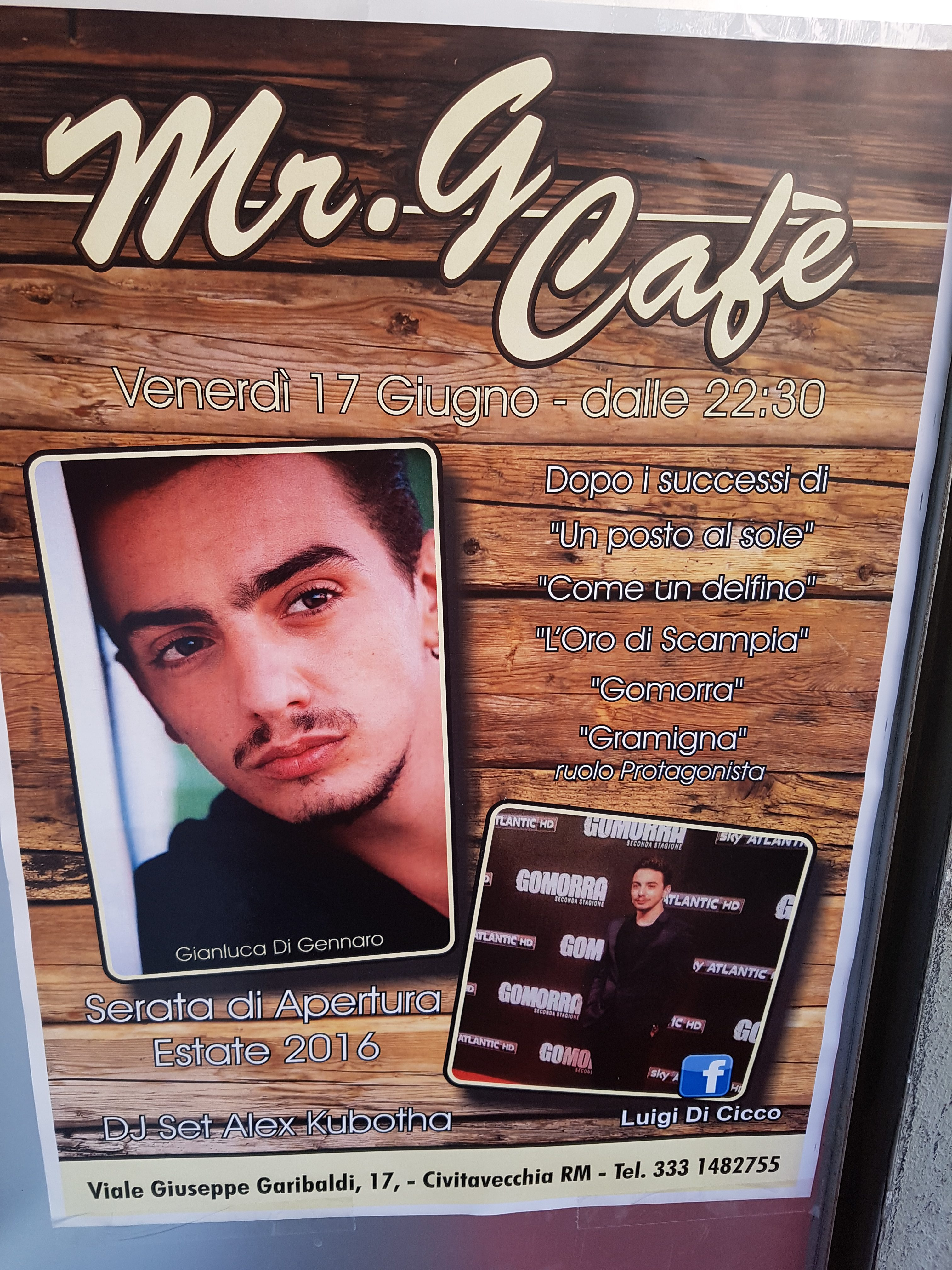 mr g cafè evento