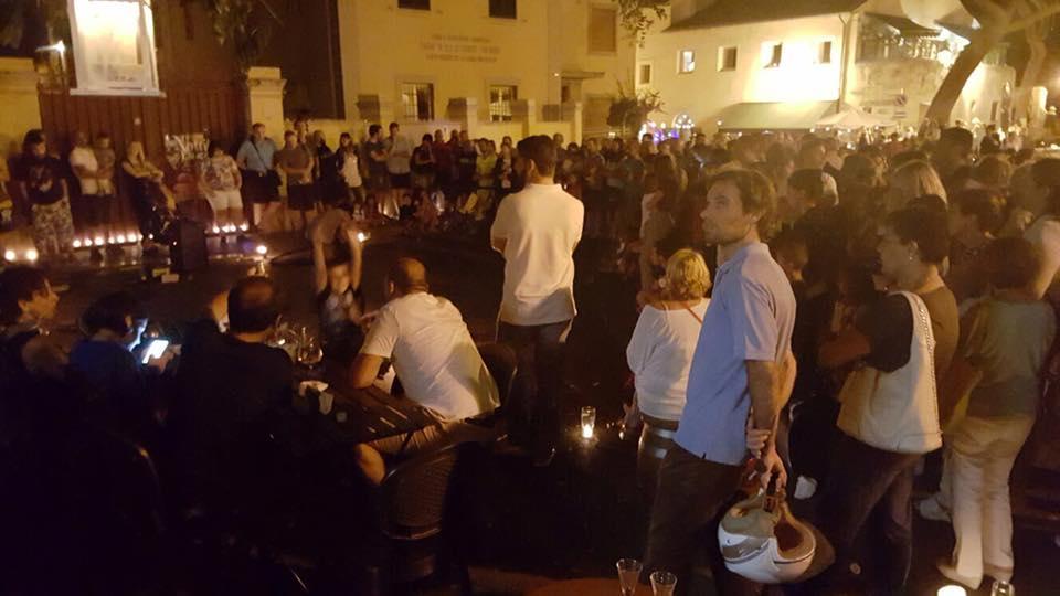 Piazza Trieste notte delle candele