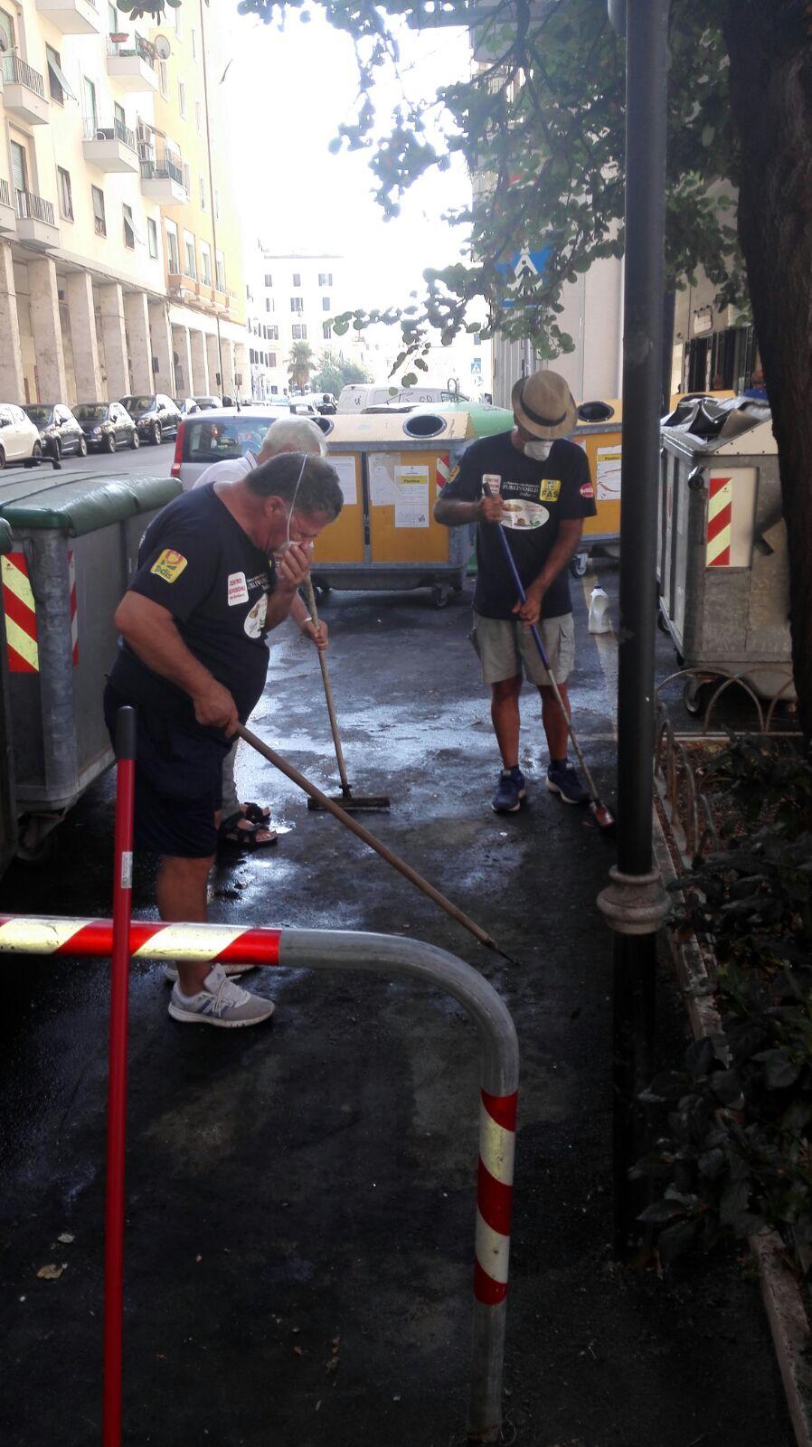 pulizia volontaria corso marconi