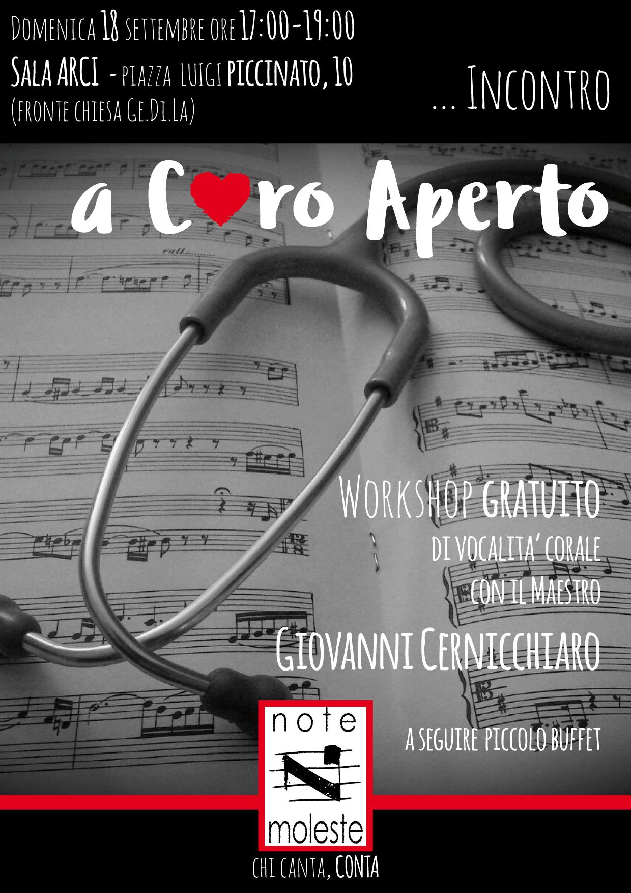 volantino workshop coro
