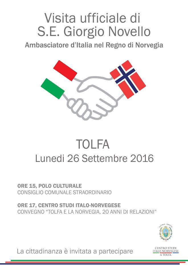 ambasciatore norvegia tolfa
