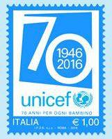 francobollo unicef