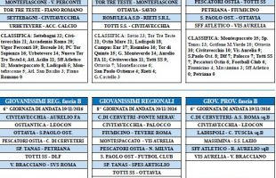 juniores civitavecchia calendario