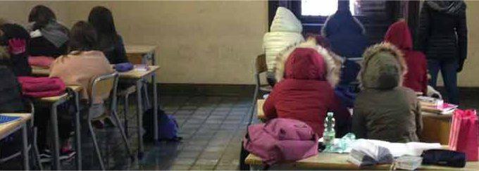 gelo, scuole senza riscaldamento