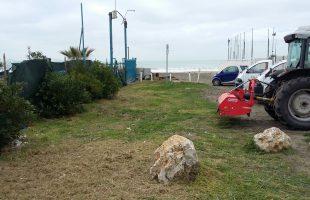 pulizia campo di mare