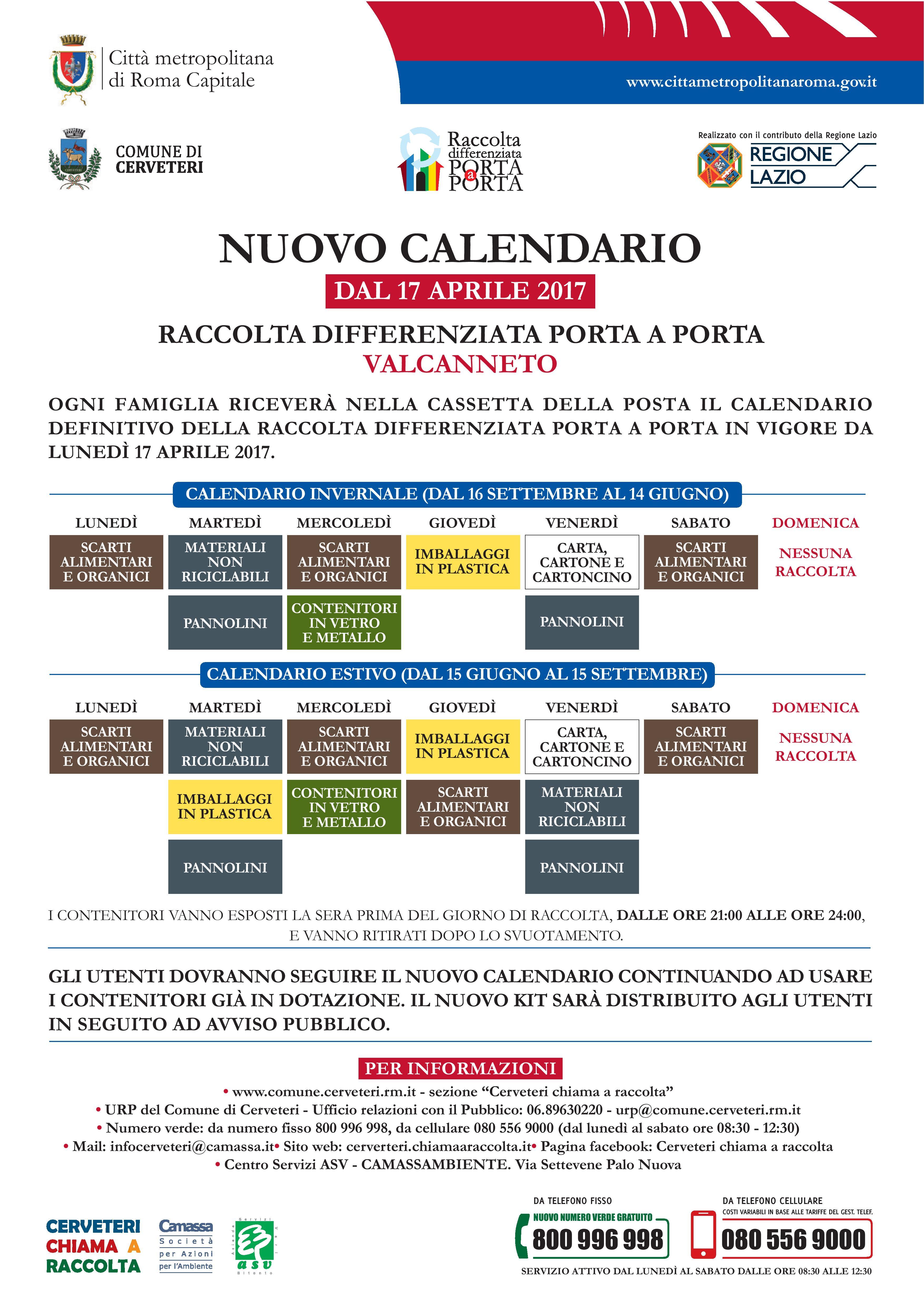 Raccolta Rifiuti Ingombranti Roma Calendario 2020.Cerveteri Raccolta Differenziata Da Lunedi Aumentano I