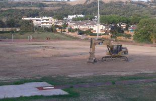 Lavori campo sportivo SantaMarinella