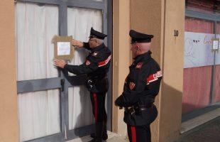 Il centro massaggi sequestrato dai Carabinieri (2)