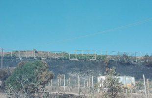 Le barriere distrutte dagli incendi