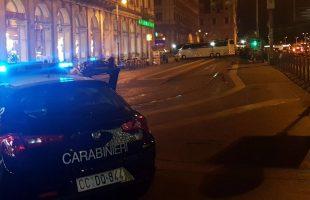I controlli dei Carabinieri a via Giovanni Giolitti
