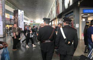 I Carabinieri impegnati nei controlli a Termini