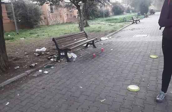 immondizia parco antonelli