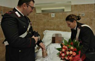 I Carabinieri in ospedale fanno visita all'anziana rapinata, nel giorno del suo compleanno (2)
