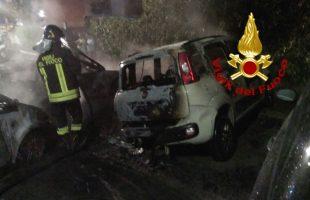 incendio auto roma