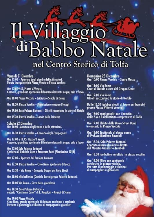 Immagini Del Villaggio Di Babbo Natale.Tolfa Al Via Il Villaggio Di Babbo Natale Si Parte Domani